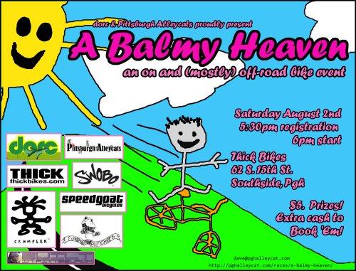 A Balmy Heaven flyer