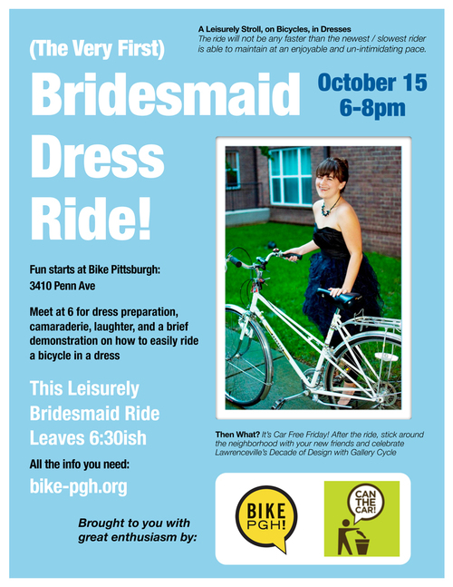 Bridesmaid Dress Ride flyer