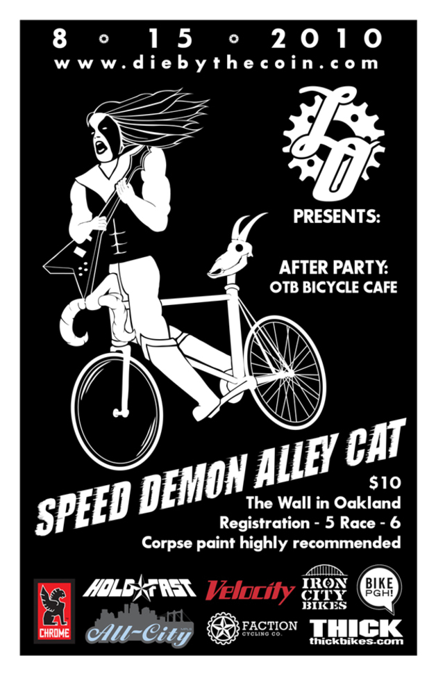 Speed Demon Alleycat flyer