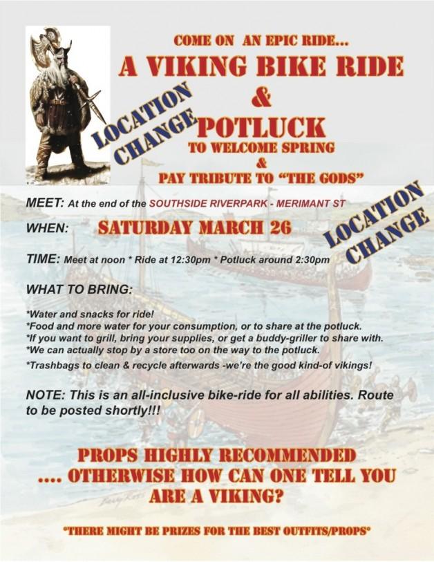 Viking ride & potluck poster